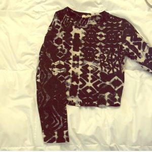 Lily White Long Sleeve Crop Top